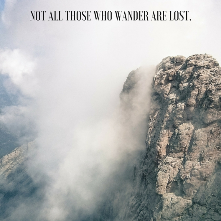 Not all those who wander are lost | One Chel of an Adventure
