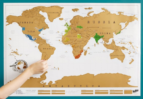 Ultimate Traveller Gift Guide | Scratch off World Map