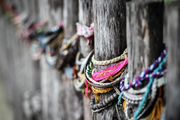 Cambodian Killing Field - Choeug Ek and S21 leaving bracelets